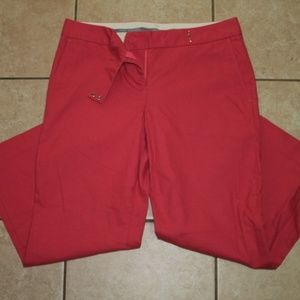 Express Capri Crop Fitted Pants Pink Coral Size 4